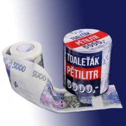Toaletní papír s motivem pětitisícovky
