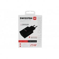 Síťový adaptér Power Delivery - 25 W - pro iPhone a Samsung - Swissten