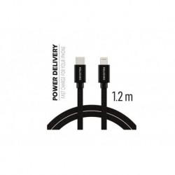 Datový kabel USB-C / Lightning Power Delivery pro iPhone - 1,2 m - Swissten
