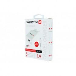 Nabíječka travel charger - 1 A - lightning - 1,2 m - Swissten