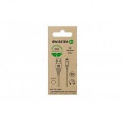 Datový kabel USB / Lightning - 1,2 m - bílý - eko balení - Swissten