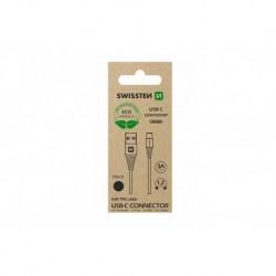 Datový kabel USB / USB-C - 1,2 m - černý - eko balení - Swissten