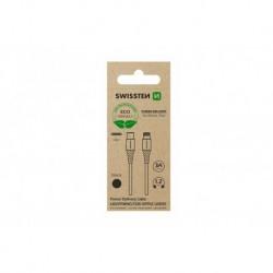 Datový kabel USB-C / Lightning - 1,2 m - černý - eko balení - Swissten