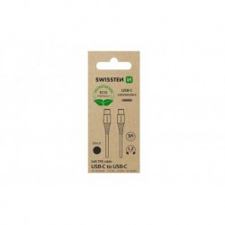 Datový kabel USB-C / USB-C - 1,2 m - černý - eko balení - Swissten