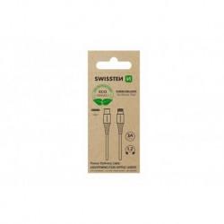 Datový kabel USB-C / Lightning - 1,2 m - bílý - eko balení - Swissten