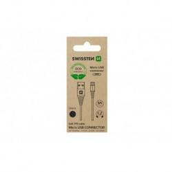 Datový kabel USB / micro USB - 1,2 m - černý - eko balení - Swissten