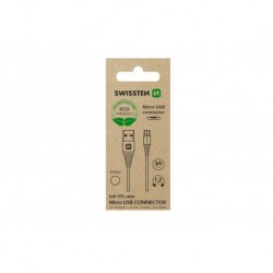 Datový kabel USB / micro USB - 1,2 m - bílý - eko balení - Swissten