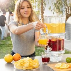 Dvojitý dávkovač se zásobníkem na led a podnosem na aperitivy TwinTap - InnovaGoods