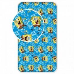 Dětské bavlněné prostěradlo - Sponge Bob - 90 x 200 cm - BedStyle