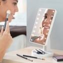 Kosmetické make-up zrcátko s LED osvětlením - bílé